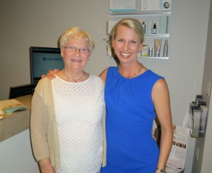 Dr. Karen Horton with her mother-in-law Betty Horton, who had Plastic Surgery herself! A breast reduction reduced her heavy, painful breasts from a GG to a more proportional C that enable her to be more physically active and look at petite as she really is!