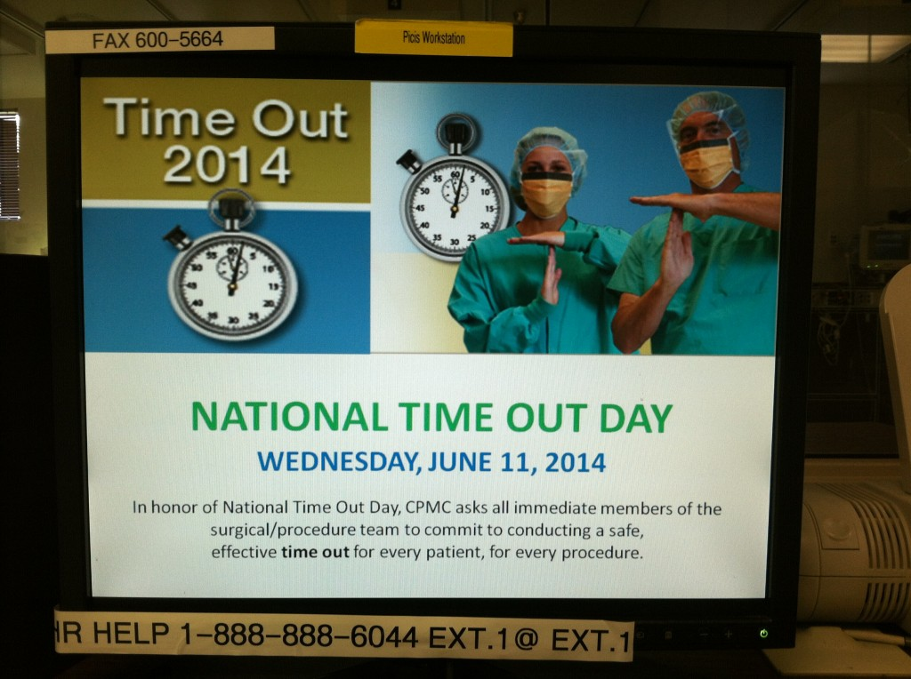 "It's National Time Out Day""!"