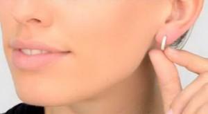 small hoop earlobe